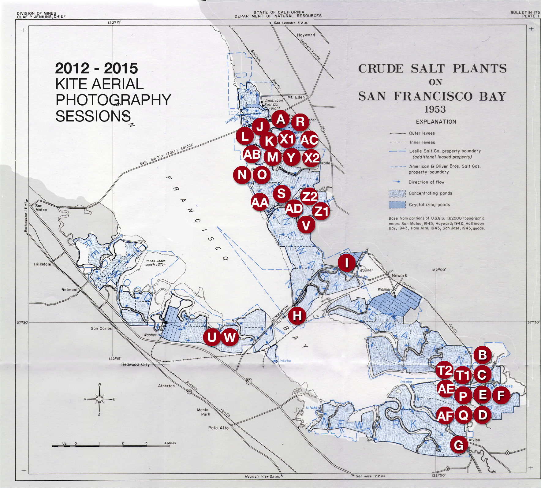 Session map for 2012 to 2015
